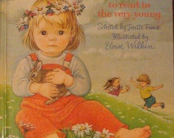 Eloise Wilkin book, Poems to Read to the Very Young, childrens poetry book, childrens poems, kids poetry book, kids poems, nursery rhymes