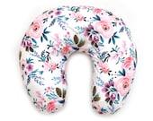 Nursing Pillow Cover Victoria Floral. Nursing Pillow. Minky Nursing Pillow Cover. Floral Nursing Pillow Cover. Pink Nursing Pillow Cover.