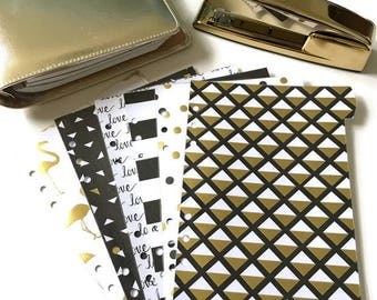 Planner Dividers // A5 or Personal Planner Dividers // A5 Planner Dividers // Personal Planner Dividers // Black & Gold Planner Dividers