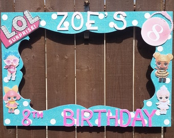 Birthday, Baby Shower, Wedding, Dolls or any theme you want Party Photo Prop Frame