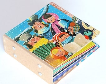 18 Christmas DVD Holder Art Book/ CD Wallet Handmade from Upcycled Album Cover, CD Case, Dvd Album, Ready to Ship