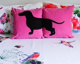 Personalized dachshund cushion covers, dog pillows, decorative pillows, pet pillows, cojín sofá, dog lover, pillow set