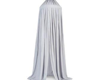 Light Grey Baldachin Bed Canopy 230cm