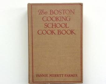 1937 Fannie Merritt Farmer, The Boston Cooking School Cookbook, Hard Cover, Little Brown & Co