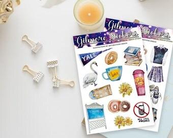 Stickers / Gilmore Girls Stickers / Lorelai Gilmore, Rory Gilmore / Sticker Set / Planner Stickers / Erin Condren / Happy Planner Stickers