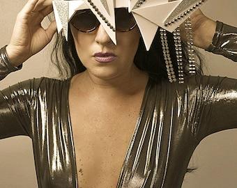 Zocculus Shades Sunglasses Angular silver avant garde futuristic festival glasses accessory burning man festival