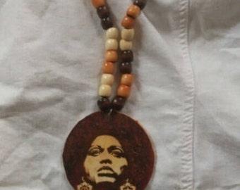 Angela Davis long necklace