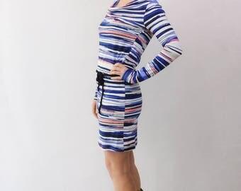 Tunic Dress, Dress, Everyday Dress, Casual Dress, Summerdress,  Watercolour Tunic, Striped Tunic, Striped Mini Dress, Watercolour Dress