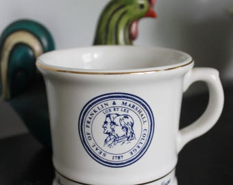 Vintage Franklin and Marshall College Shaving Mug, Vintage shaving gift, Vintage College shaving mug,alumni gift,Franklin & Marshall College