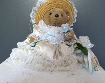 Vintage Bearly People Victorian Elegance Spring Maid Teddy Bear with Potpourri Parasol