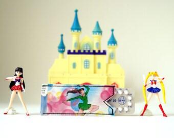 Pill cozy *L* SAILOR JUPITER upcycling! Pill case, pill shell PauwPauw Sailor Moon manga comic recycling 100% handmade in Berlin
