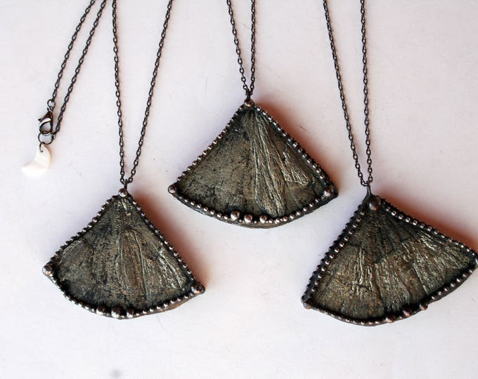 Pyrite Sun Slice Necklace