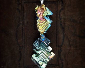 """Bismuth Necklace  """"The Last Drop"""" - Bismuth Geode - Sterling and Bismuth Jewelry by Element83 - Iridescent Crystal Necklace Jewelry"""