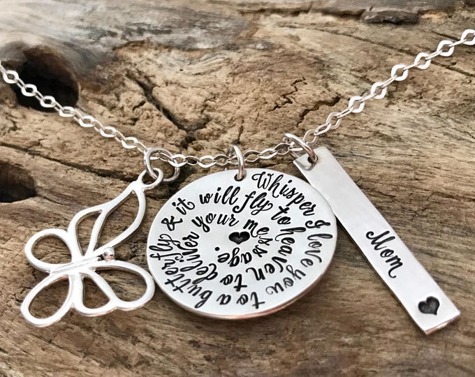 Memorial gift. Butterfly necklace. Memorial Jewelry. MEMORIAL GIFT PERSONALIZED. Memorial gift mom, Memorial gift Dad, Memorial gift husband