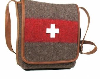 WD43 Swiss Army Blanket Cross Body Bag by Karlen Swiss