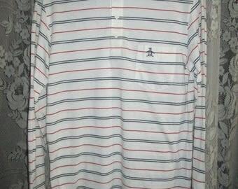 Vintage 1980s Grand Slam Penguin Munsingwear Long Sleeves Polo Shirt