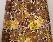 Vintage Sears flower pattern Perma-Prest window curtain, 1960s, 1970s, Mid Century Modern, retro, mods