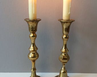 Century brass candlesticks / candle holders