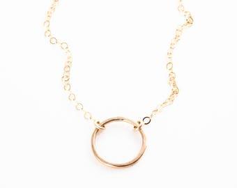 Hakumele necklace - gold eternity necklace, gold necklace, simple gold necklace, hawaii bridesmaid necklace, circle necklace, maui, hawaii