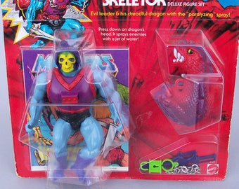 Vintage He-Man Dragon Blaster Skeletor (MOC) New in Package C85 Very Rare Made in Mexico