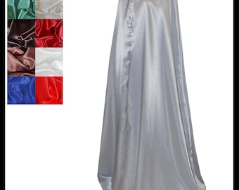 Silver Shimmer Satin Cloak lined with Shimmer Satin. Ideal for LARP LRP Medieval Cosplay Elven Costume. Made especially for you. NEW!