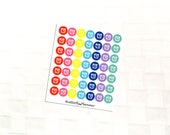 Alarm Clock Mutlicolor Icon Stickers, Appointment and Meeting Reminder