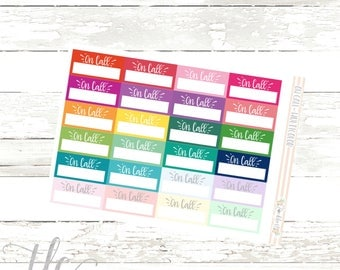 On Call Multi-Color Functional Planner Stickers