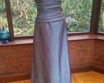 uk-size10USA size8 prom ballgown bridesmaid evening dress padded shaped boned corset top full skirt and pleated bodice