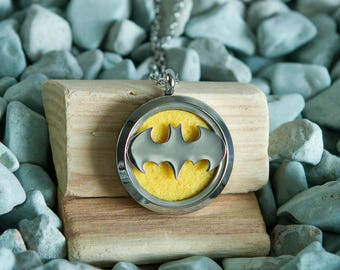 Stainless Steel Oil Diffuser Necklace - Super Hero Inspired #3