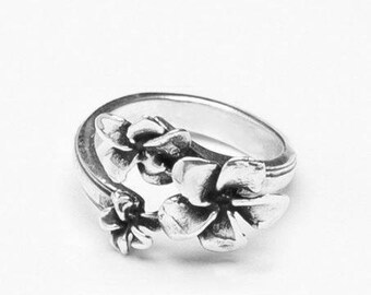 "Spoon Ring: ""Plumeria"" by Silver Spoon Jewelry"