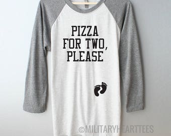 Pizza for two please maternity shirt, eating for two maternity shirt, pregnancy cravings shirt, pregnancy gift