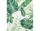 Tropical Palm Leaf Baby Blanket, palm leaf blanket, tropical leaf, palm leaves, tropical nursery, tropical blanket, palm leaf nursery