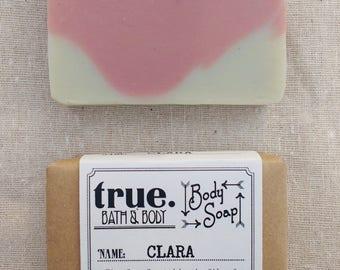 CLARA Body Soap | Organic Soap | Vegan Soap | Natural Soap | Handmade Soap | Cold Process Soap | Soap for Sensitive Skin