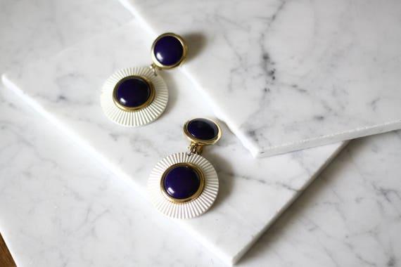 1980s drop earrings // nautical drop earrings // vintage earrings
