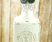 Wine cork earrings - Gree...