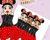 Missy Dollie || Mouse Ears || Happiest Girl On Earth  || Digital Illustration || Planner Die Cuts ||