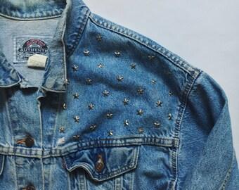 Star Studded Authentic Vintage Levis Denim Jacket Jean Jacket ALL SIZES