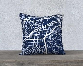 Arlington Virginia Map Pillow Cover