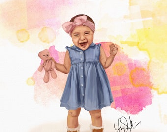 Custom Digital Painting: Realistic Portrait