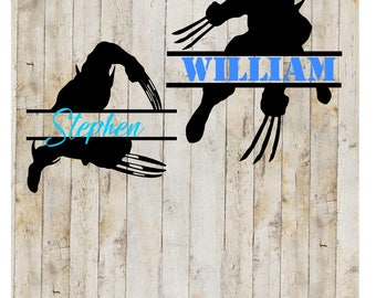 Wolverine Name Decal, Split Wolverine Decal ,Wolverine , Wolverine YETI decal, Wolverine RTIC decal, Wolverine Tumbler, Wolverine Party