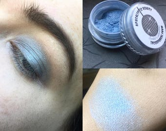 Incorporeal Prom - pale blue vegan eyeshadow with pink sparkle