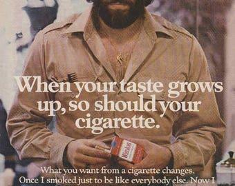 1976 Advertisement Winston Cigarettes Tobaccoana Retro Vintage Wall Art Decor Manly Necklace Beard Man Cave Gift For Him Smoker Smoking