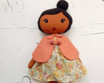 Collette, handmade felt doll