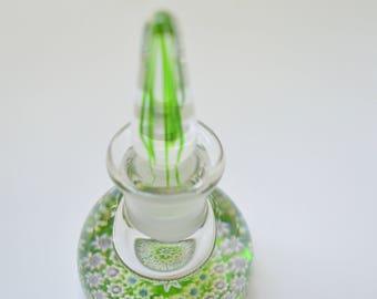 Millefiori Glass Perfume Scent Bottle Paperweight Perthshire Crieff Scotland (B)