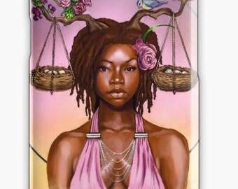 Libra Samsung Galaxy Phone Case African American Zodiac Goddess Black Girl Magic  Afrofuturism