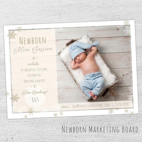 Newborn Marketing Template Mini Session Template Photographer Baby - Mini session templates