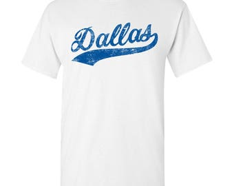 Dallas City Script T-Shirt - White