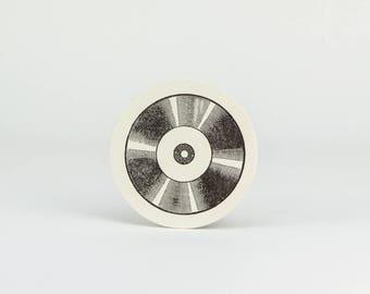 10-Pack Record Coasters / Letterpress Coasters / Reusable Coasters / Paper Coasters / Letterpress Housewares / Retro Housewares / Barware