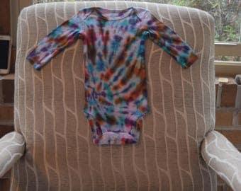 Tie Dye Carters Baby Onesie Size 3-6 Months Green White Blue Orange Pink