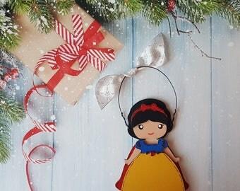 Disney Christmas Ornament, Snow White Princess, Elsa, Anna, Cinderella, Jasmine, Rapunzel, Belle, Aurora, Moana, Tiana, Ariel, Merida, Mulan